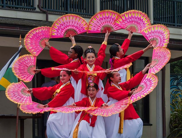 Language Capital of the World Cultural Festival - Korean Fan Dance 2.jpg